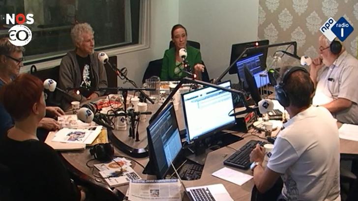 In de studio bij Radio 1
