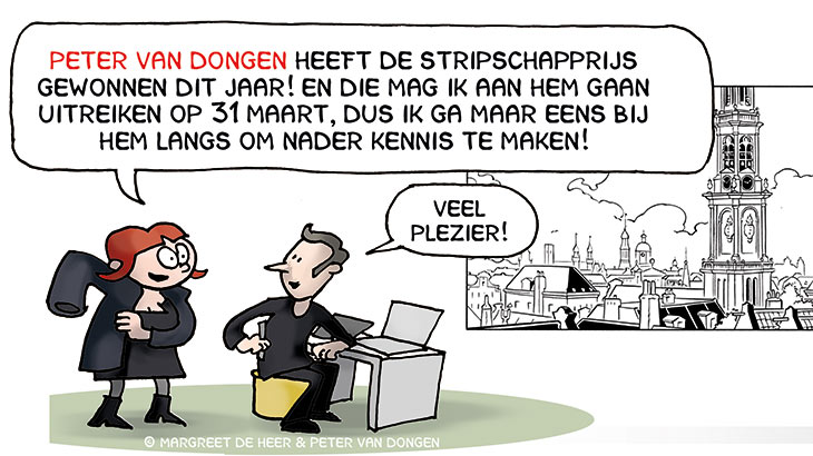 Stripinterview met Peter van Dongen