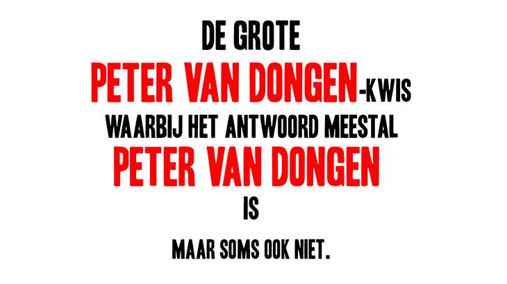 De Grote Peter van Dongen Kwis