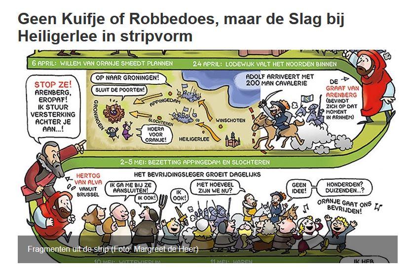 De Slag bij Heiligerlee bij RTV Noord