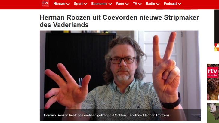 RTV Drenthe: Herman Roozen uit Coevorden nieuwe Stripmaker des Vaderlands